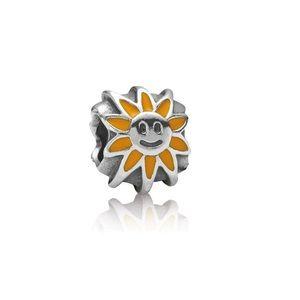 NEW Pandora RETIRED Smiling Sunshine Charm Silver